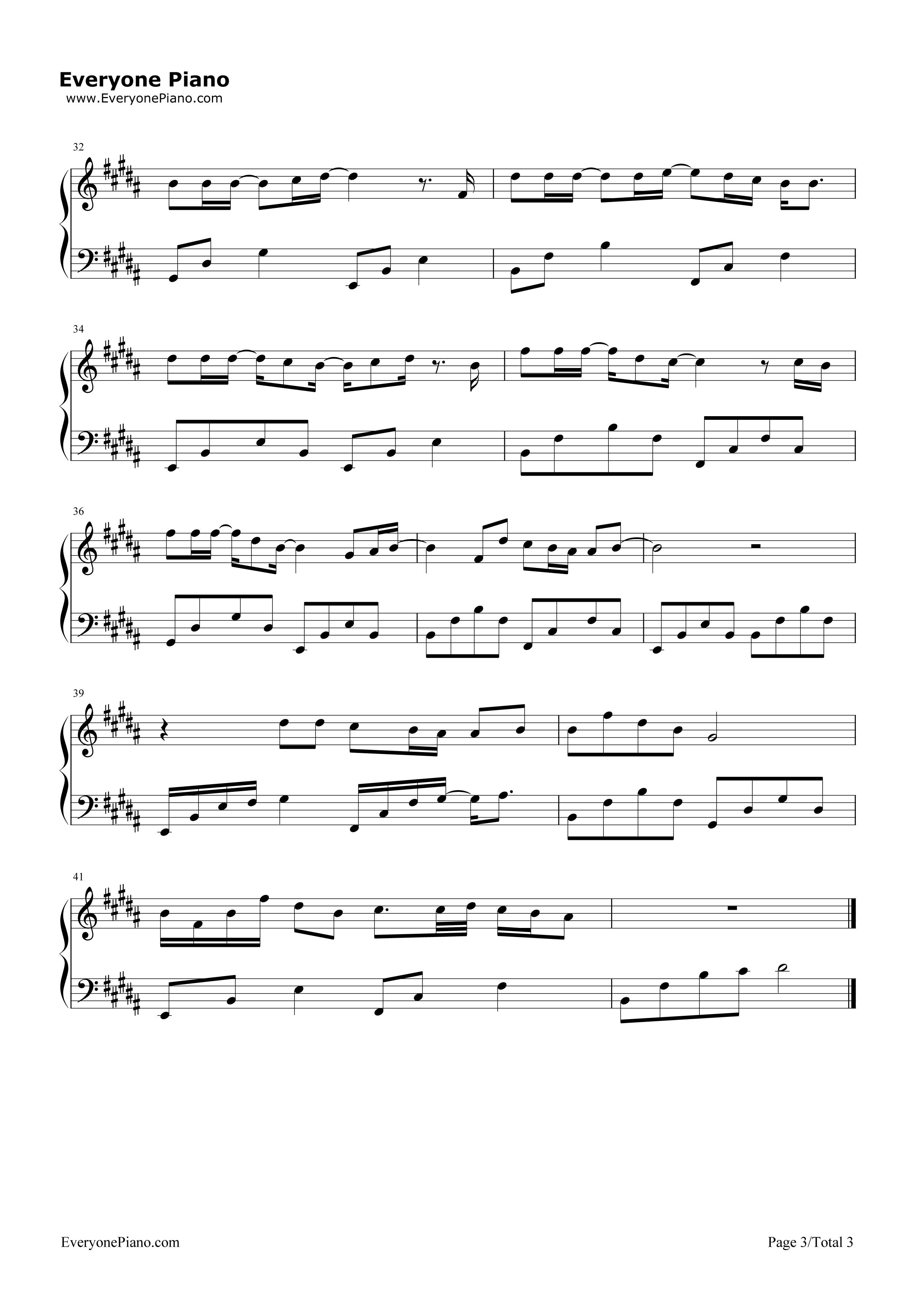 《?树读》(王俊凯演唱)钢琴谱第3张
